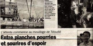 Nouvelle-Calédonie, boat-people, article de Martin Bohn